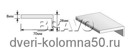 Наличник телескопический экошпон elPORTA